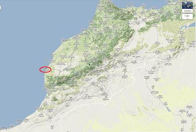الصويرة خريطة الموقع